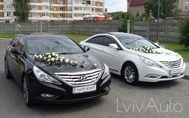Аренда Hyundai Sonata на свадьбу Львів