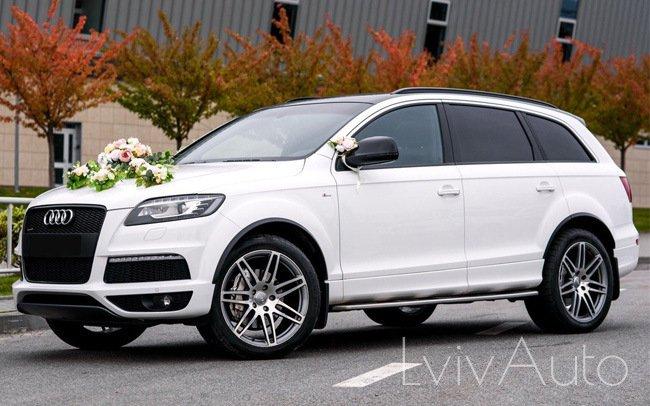 Аренда Audi Q7 на свадьбу Львів
