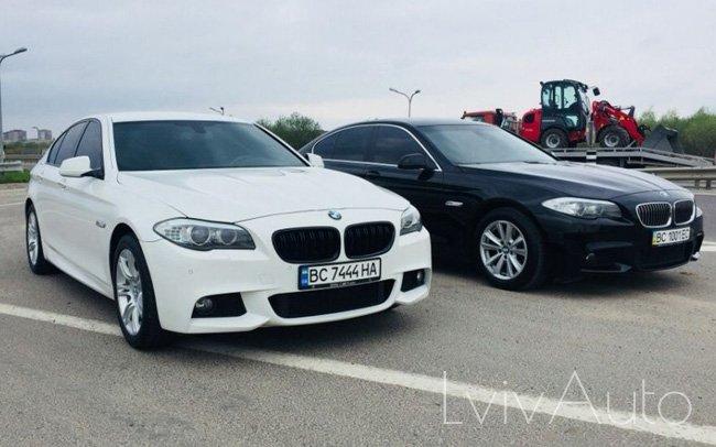 Аренда BMW 5 F10 на свадьбу Львів