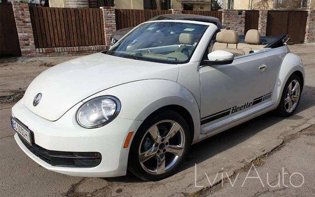 Аренда Кабріолет Volkswagen Beetle на свадьбу Львів