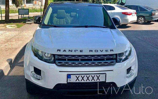 Аренда Range Rover Evoque на свадьбу Львів